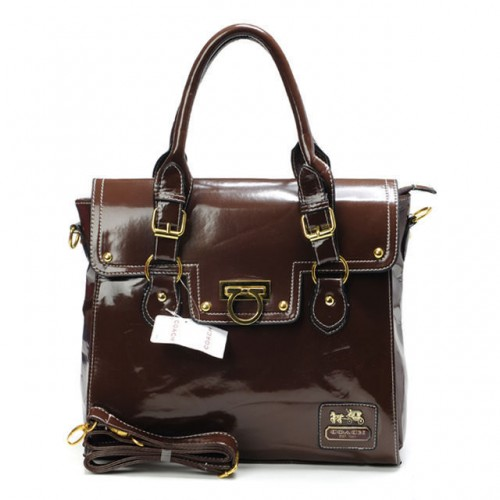 Coach Sadie Flap In Spectator Medium Coffee Satchels AVS