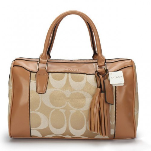 Coach Legacy Haley Medium Khaki Satchels AVT