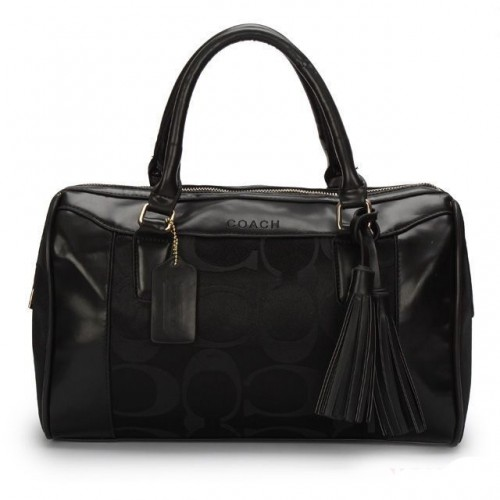 Coach Legacy Haley Medium Black Satchels AVU