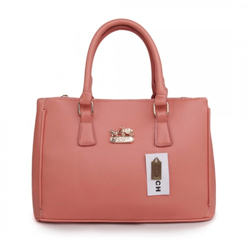 Coach In Saffiano Medium Pink Satchels AVY