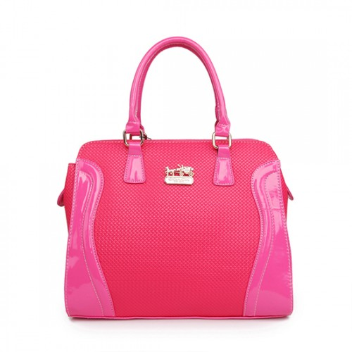 Coach Logo Medium Fuchsia Totes AWE