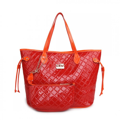Coach Rhombus Medium Red Totes AWI