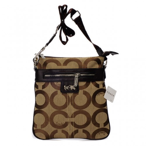 Coach Legacy Swingpack In Signature Medium Khaki Crossbody Bags