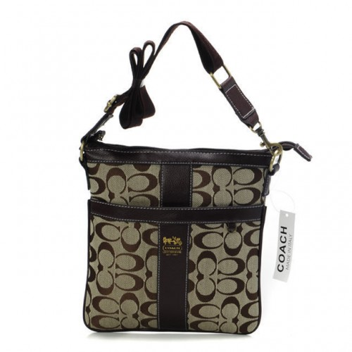 Coach Legacy Swingpack In Signature Medium Beige Crossbody Bags