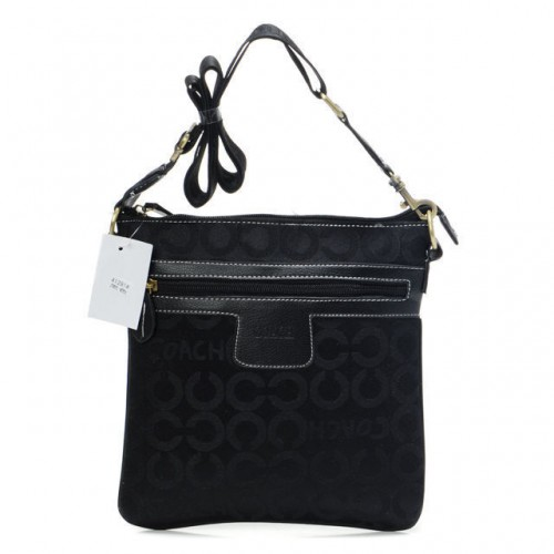 Coach Legacy Swingpack In Signature Medium Black Crossbody Bags
