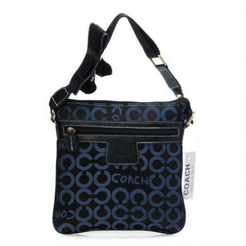 Coach Legacy Swingpack In Signature Medium Navy Crossbody Bags A
