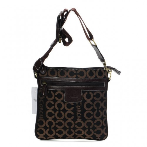 Coach Legacy Swingpack In Signature Medium Coffee Crossbody Bags