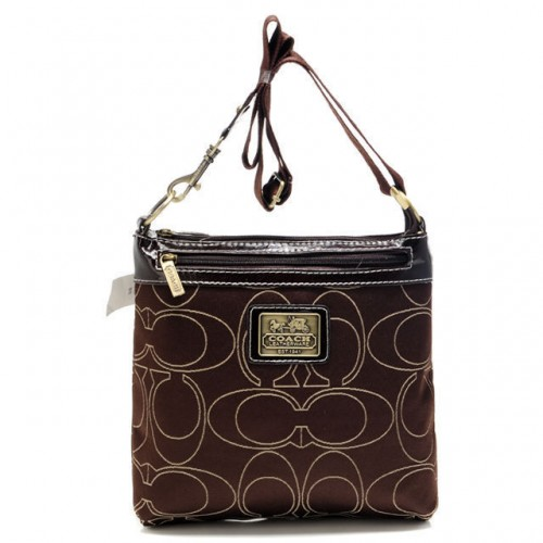 Coach Swingpack In Signature Medium Coffee Crossbody Bags AWV
