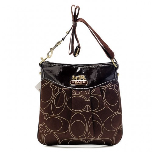 Coach Swingpack In Signature Medium Coffee Crossbody Bags AWY