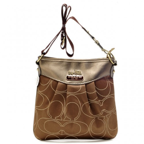 Coach Swingpack In Signature Medium Khaki Crossbody Bags AXA
