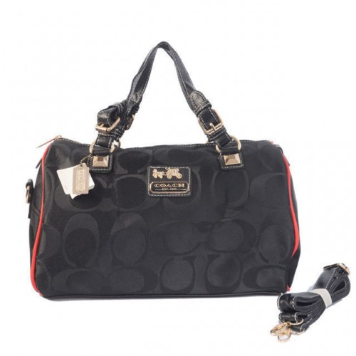 Coach In Signature Medium Black Luggage Bags AYD