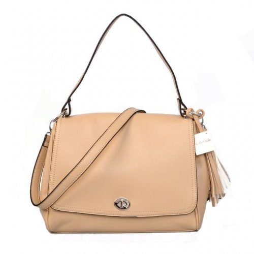 Coach Turnlock Medium Apricot Shoulder Bags AYR