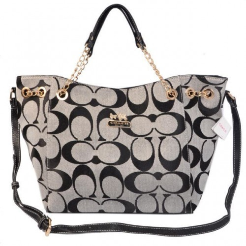 Coach Chelsea In Signature Medium Grey Totes AZD