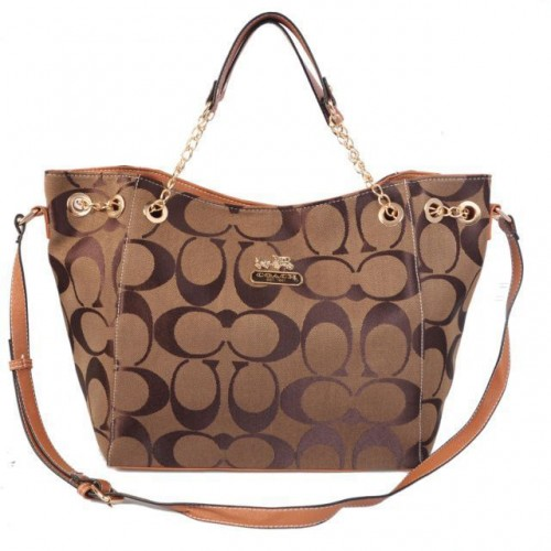 Coach Chelsea In Signature Medium Camel Totes AZE