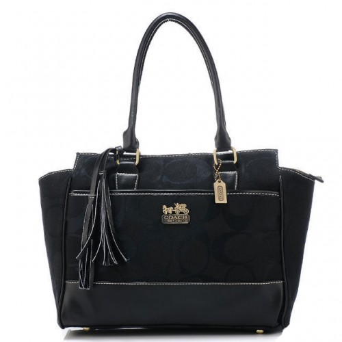 Coach Legacy Candace Medium Black Satchels AZF