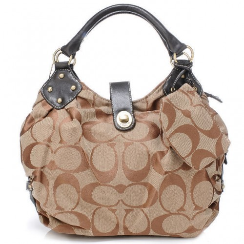 Coach In Signature Medium Khaki Satchels AZK