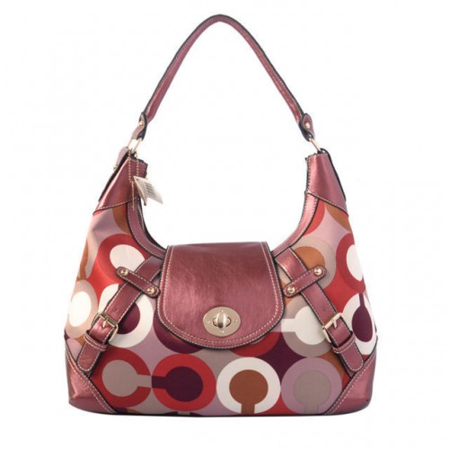 Coach Turnlock Large Fuchsia Hobo BAD