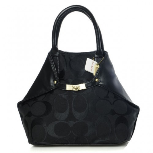 Coach Lock Small Black Totes BAM