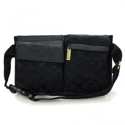 Coach New In Signature Small Black Crossbody Bags BAP