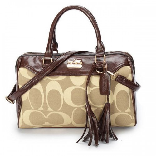 Coach Legacy Haley Medium Khaki Satchels BAW
