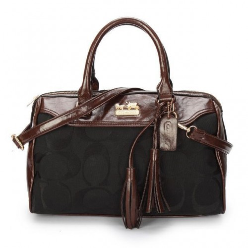 Coach Legacy Haley Medium Black Satchels BAY