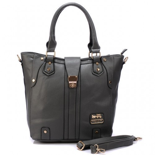 Coach Turnlock Medium Grey Satchels BBS