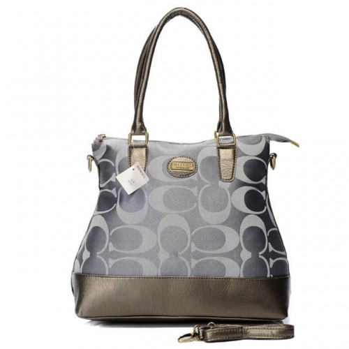 Coach In Signature Medium Grey Satchels BBV