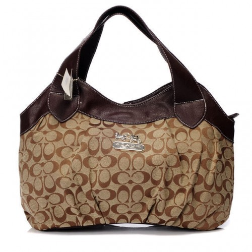 Coach In Signature Medium Coffee Hobo BBY