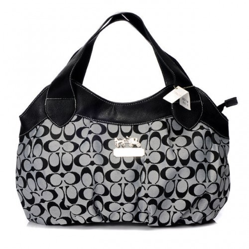 Coach In Signature Medium Grey Hobo BBZ