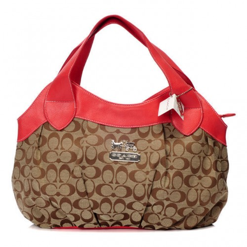 Coach In Signature Medium Red Hobo BCA