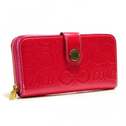 Coach Logo Large Red Wallets BCN
