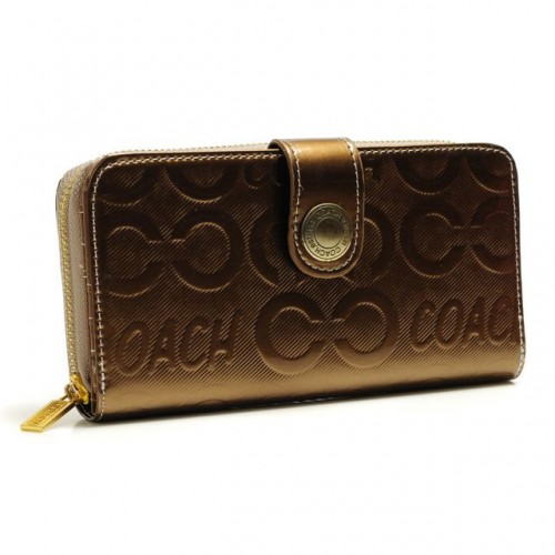 Coach Logo Large Gold Wallets BCP