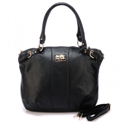 Coach Kelsey Smooth Medium Black Satchels BDS