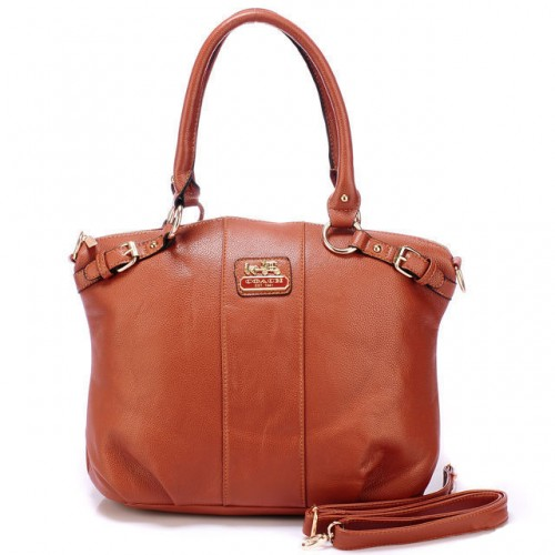 Coach Kelsey Smooth Medium Brown Satchels BDT