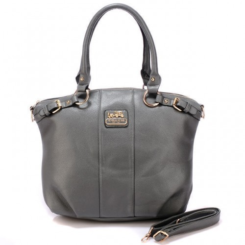 Coach Kelsey Smooth Medium Grey Satchels BDU
