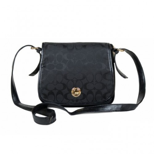 Coach Classic Rambler Legacy In Signature Medium Black Crossbody