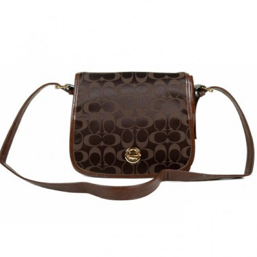 Coach Classic Rambler Legacy In Signature Medium Coffee Crossbod