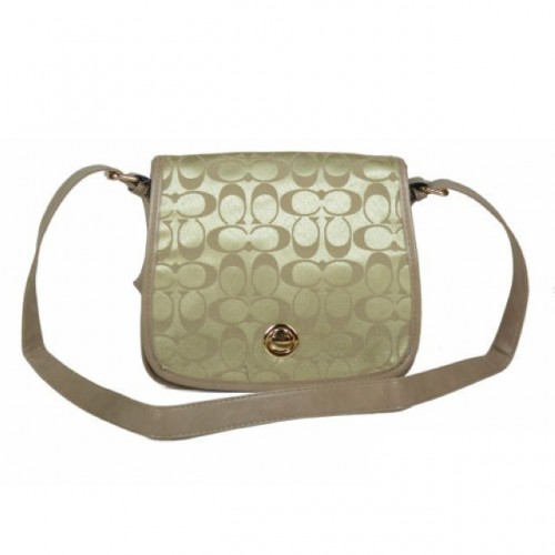 Coach Classic Rambler Legacy In Signature Medium Khaki Crossbody