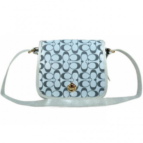 Coach Classic Rambler Legacy In Signature Medium Grey Crossbody