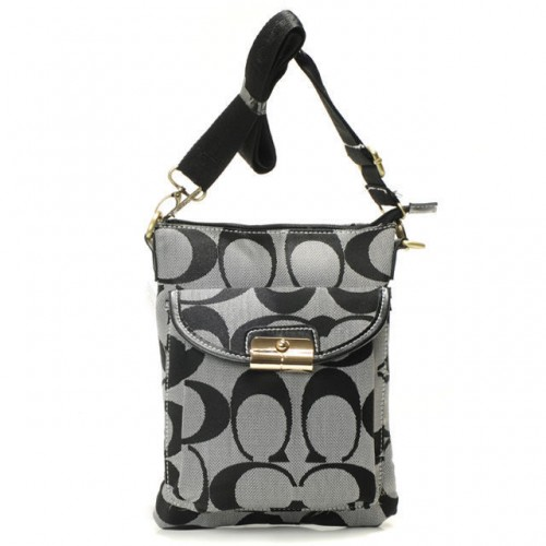 Coach Kristin Lock Small Grey Crossbody Bags BEC