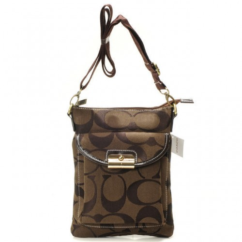 Coach Kristin Lock Small Coffee Crossbody Bags BED