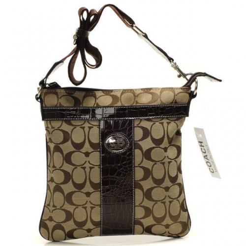 Coach Legacy Swingpack In Signature Medium Camel Crossbody Bags