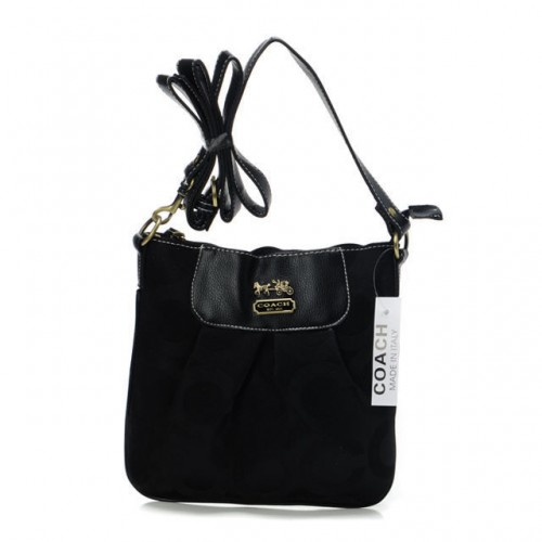 Coach In Signature Medium Black Crossbody Bags BEJ