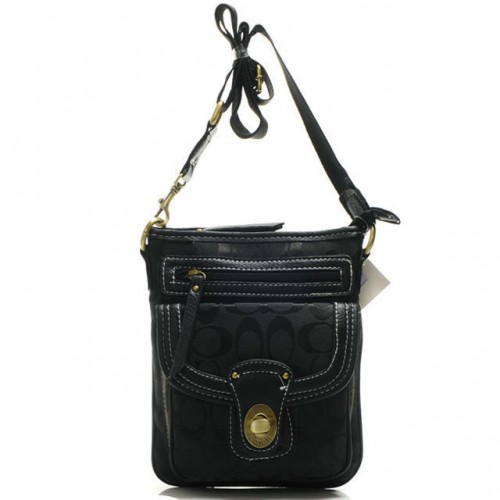 Coach Willis Lock In Signature Small Black Crossbody Bags BEL