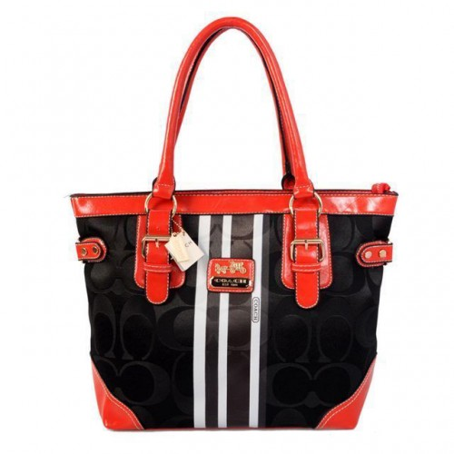 Coach In Signature Medium Black Totes BEW