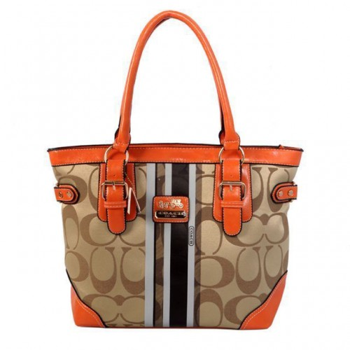 Coach In Signature Medium Khaki Totes BFA