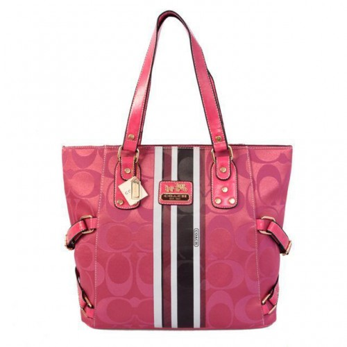 Coach In Signature Logo Medium Pink Totes BFE