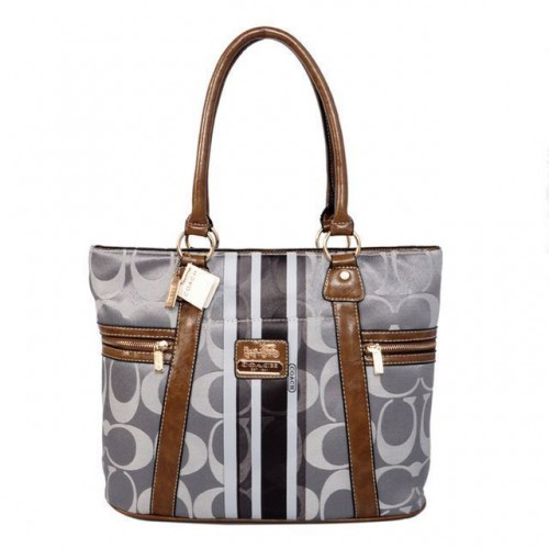 Coach Zip In Signature Medium Grey Totes BFI