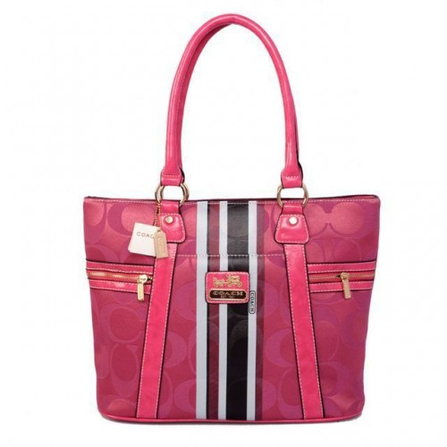 Coach Zip In Signature Medium Pink Totes BFJ