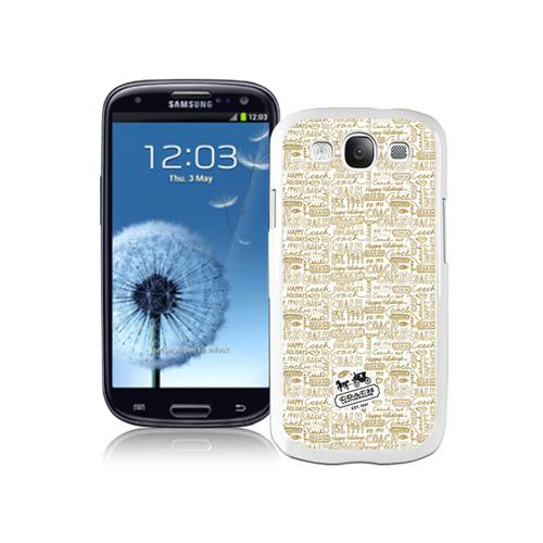 Coach Fashion Logo Khaki Samsung Galaxy S3 9300 BGM